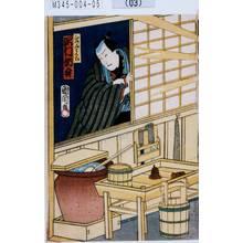 Toyohara Kunichika: 「山崎屋与五郎 沢村訥升」 - Tokyo Metro Library