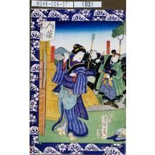 Utagawa Kuniteru: 「猪熊大之進」「女房小せん」 - Tokyo Metro Library