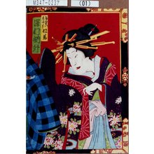Toyohara Kunichika: 「けいせい花子実は松若 沢村訥升」 - Tokyo Metro Library