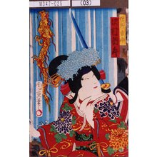 Morikawa Chikashige: 「狩野雪姫 沢村訥升」 - Tokyo Metro Library
