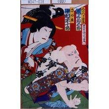 Toyohara Kunichika: 「みだ六 実ハ宗清 尾上菊五郎」「さがみ 中村宗十郎」 - Tokyo Metro Library