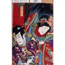 Toyohara Kunichika: 「天津乙女 岩井半四郎」 - Tokyo Metro Library