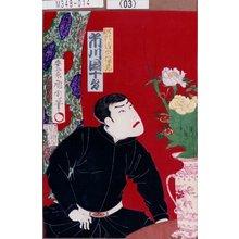 Toyohara Kunichika: 「船頭清水三保蔵 市川団十郎」 - Tokyo Metro Library