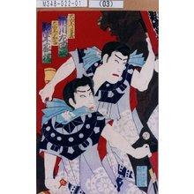 Toyohara Chikanobu: 「大山参り蔦蔵 市川左団次」「大山参り嘉吉 坂東家橘」 - Tokyo Metro Library