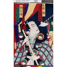 Morikawa Chikashige: 「土蜘ノ精 尾上菊五郎」「狂言師 市川団十郎」 - Tokyo Metro Library