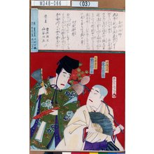 Toyohara Kunichika: 「喜撰法師 尾上菊五郎」「文屋康秀 市川団十郎」 - Tokyo Metro Library