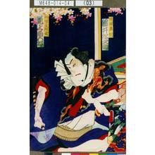 Toyohara Kunichika: 「傾城奥州 岩井松之助」「御所ノ五郎蔵 尾上菊五郎」 - Tokyo Metro Library