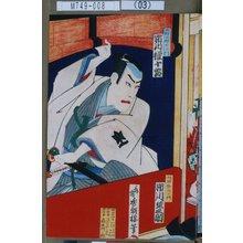 Utagawa Toyosai: 「水野十郎左エ門 市川権十郎」「坂田金左エ門 市川猿之助」 - Tokyo Metro Library