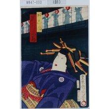 Toyohara Kunichika: 「おこん 岩井紫若」 - Tokyo Metro Library