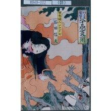Toyohara Kunichika: 「川上座当狂言 八十日間世界一周」「日本婦人アウダ女 石田信夫」 - Tokyo Metro Library