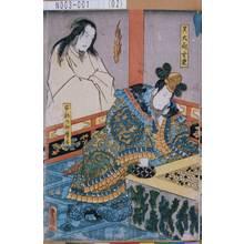 Utagawa Kunisada: 「呉大尉玄東」「安倍乃仲磨霊」 - Tokyo Metro Library