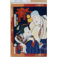 Toyohara Kunichika: 「喜撰 中村芝翫」「茶汲女 尾上菊五郎」 - Tokyo Metro Library