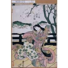 Utagawa Toyokuni I: 「かりや姫 沢村田之助」 - Tokyo Metro Library