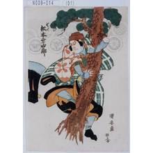 Utagawa Kuniyasu: 「山がつ 松本幸四郎」 - Tokyo Metro Library