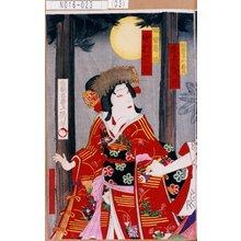 Utagawa Toyosai: 「御曹子牛若丸 尾上菊五郎」「娘皆鶴姫 中村福助」 - Tokyo Metro Library