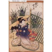 歌川豊重: 「さつき 岩井紫若」 - 東京都立図書館