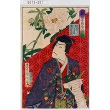 Toyohara Kunichika: 「花競奇術三十六歌撰」「志らぬい 実ハ若菜姫 市川右団次」 - Tokyo Metro Library