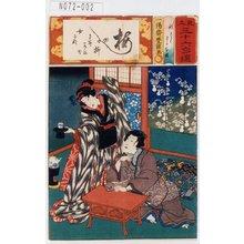 Utagawa Kunisada: 「見立三十六句選」「秋さく」「わかな姫」 - Tokyo Metro Library