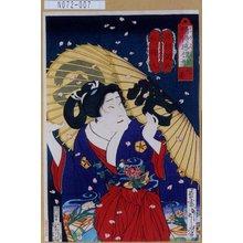 Tsukioka Yoshitoshi: 「情得感壇形 花曇」「紅梅丸 沢村訥升」 - Tokyo Metro Library