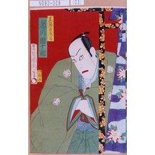 Toyohara Kunichika: 「真名子庄司 市川団十郎」 - Tokyo Metro Library