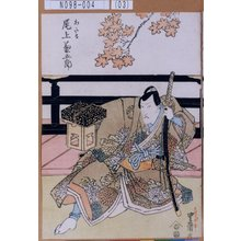 歌川豊国: 「わたる 尾上菊五郎」 - 東京都立図書館