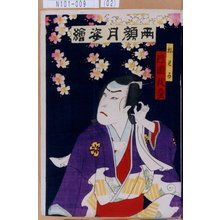 Toyohara Kunichika: 「両顔月姿絵」「松わか 片岡我童」 - Tokyo Metro Library