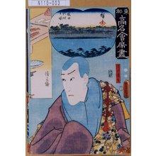 Utagawa Kunisada: 「東都高名会席尽」「清水清玄」 - Tokyo Metro Library