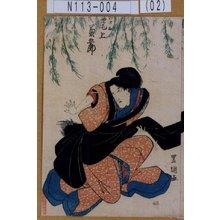Utagawa Toyoshige: 「かさね 尾上菊五郎」 - Tokyo Metro Library