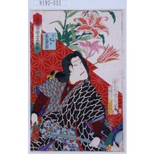 Toyohara Kunichika: 「花競奇術三十六歌撰」「ゆうふ綱手 尾上菊五郎」 - Tokyo Metro Library