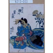 Utagawa Kunisada: 「松山太夫 瀬川菊之丞」 - Tokyo Metro Library