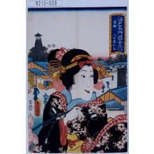 Utagawa Kunisada: 「江戸名所図会 十八 本郷」「八百屋お七」 - Tokyo Metro Library