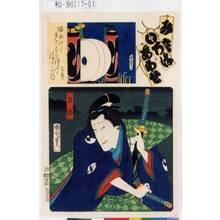 Toyohara Kunichika: 「見立いろはあわせ」「り」「力弥」 - Tokyo Metro Library