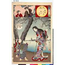 Toyohara Chikanobu: 「雪月花」 「武蔵」「隅田川月」「班女の前」「廿五」 - Tokyo Metro Library
