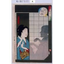 Toyohara Kunichika: 「俳優芸妓かげの評判」「白梅」「尾上菊五郎」 - Tokyo Metro Library