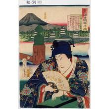 Toyohara Kunichika: 「東海道一ト眼千両」「日本橋 左金吾頼兼」 - Tokyo Metro Library