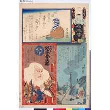 椿月: 「江戸乃花名勝會」 「り」「十番組」「今戸の朝煙」 「髭乃伊久 六代目松本幸四郎」 - Tokyo Metro Library