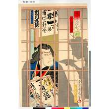 Toyohara Kunichika: 「楽屋二階影評判」「仁太夫 市川九蔵」 - Tokyo Metro Library