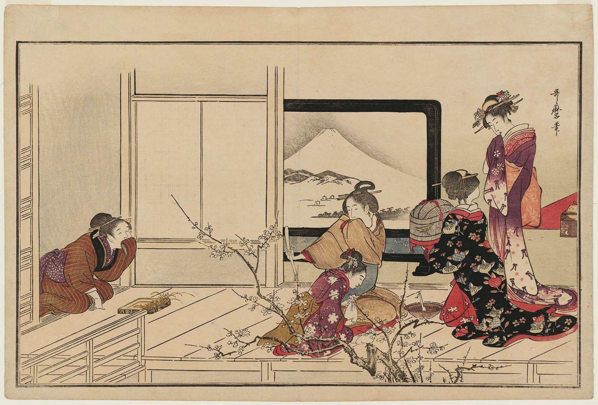 открытки с японскими гравюрами лишь