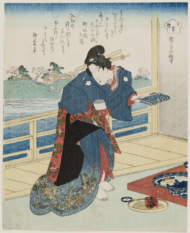 柳川重信: Surimono - ボストン美術館 - 浮世絵検索