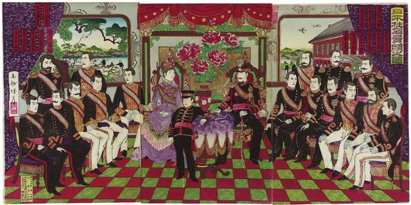 Kojima Shôgetsu: Illustration of the Principal Dignitaries of Japan (Nihon chûseki kiken no zu) - ボストン美術館