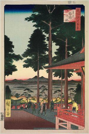 歌川広重: Ôji Inari Shrine (Ôji Inari no yashiro), from the series One Hundred Famous Views of Edo (Meisho Edo hyakkei) - ボストン美術館