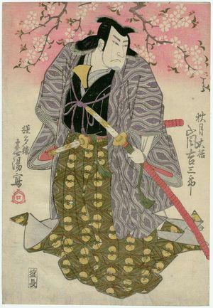 魚屋北渓: Actor Arashi Kichisaburô II as Akizuki Taizen - ボストン美術館