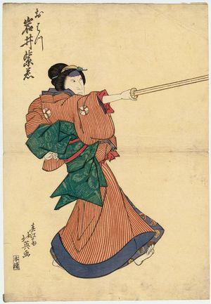 Shunbaisai Hokuei: Actor Iwai Shijaku I as Ohatsu - Museum of Fine Arts