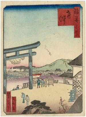 歌川芳滝: The Kôzu Shrine (Kôzu), from the series One Hundred Views of Osaka (Naniwa hyakkei) - ボストン美術館