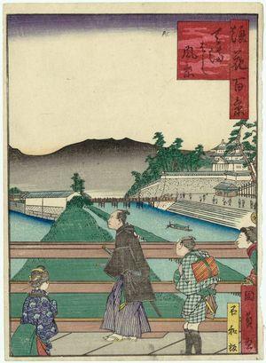 Utagawa Kunikazu: View of Tenma-bashi Bridge (Tenma-bashi fûkei), from the series One Hundred Views of Osaka (Naniwa hyakkei) - Museum of Fine Arts