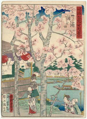 Nansuitei Yoshiyuki: Hinokuchi in Tenma (Tenma Hinokuchi), from the series One Hundred Views of Osaka (Naniwa hyakkei) - ボストン美術館