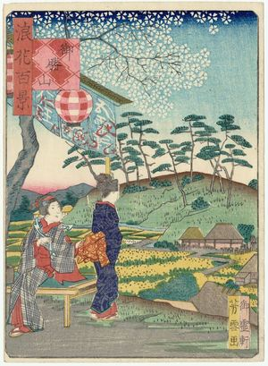 Nansuitei Yoshiyuki: Okachi-yama Mound (Okachi-yama), from the series One Hundred Views of Osaka (Naniwa hyakkei) - ボストン美術館