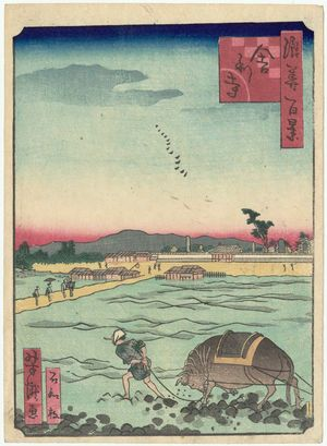 歌川芳滝: Shari-ji Temple (Shari-ji), from the series One Hundred Views of Osaka (Naniwa hyakkei) - ボストン美術館