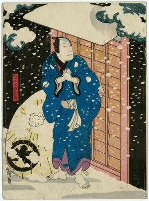 歌川広貞: Actor Jitsukawa Enzaburô I as the tobacconist Sankichi - ボストン美術館