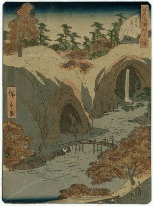 Utagawa Hiroshige II: No. 14, Waterfall River at Ôji (Ôji Takinogawa), from the series Forty-Eight Famous Views of Edo (Edo meisho yonjûhakkei) - Museum of Fine Arts
